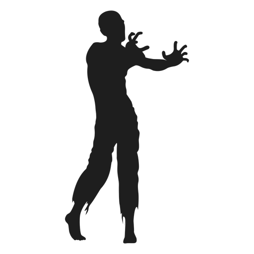 Vector zombie svg. Reaching out silhouette transparent