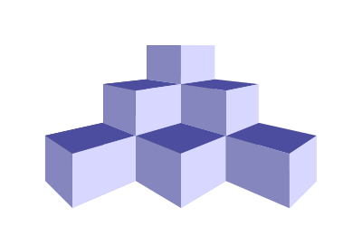 Vectorial drawing box. D boxes a