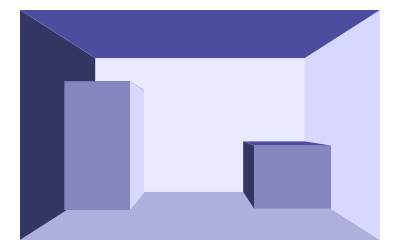 Vectorial drawing box. D boxes point