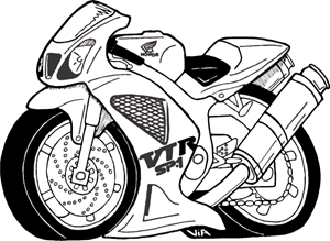 honda drawing cbr