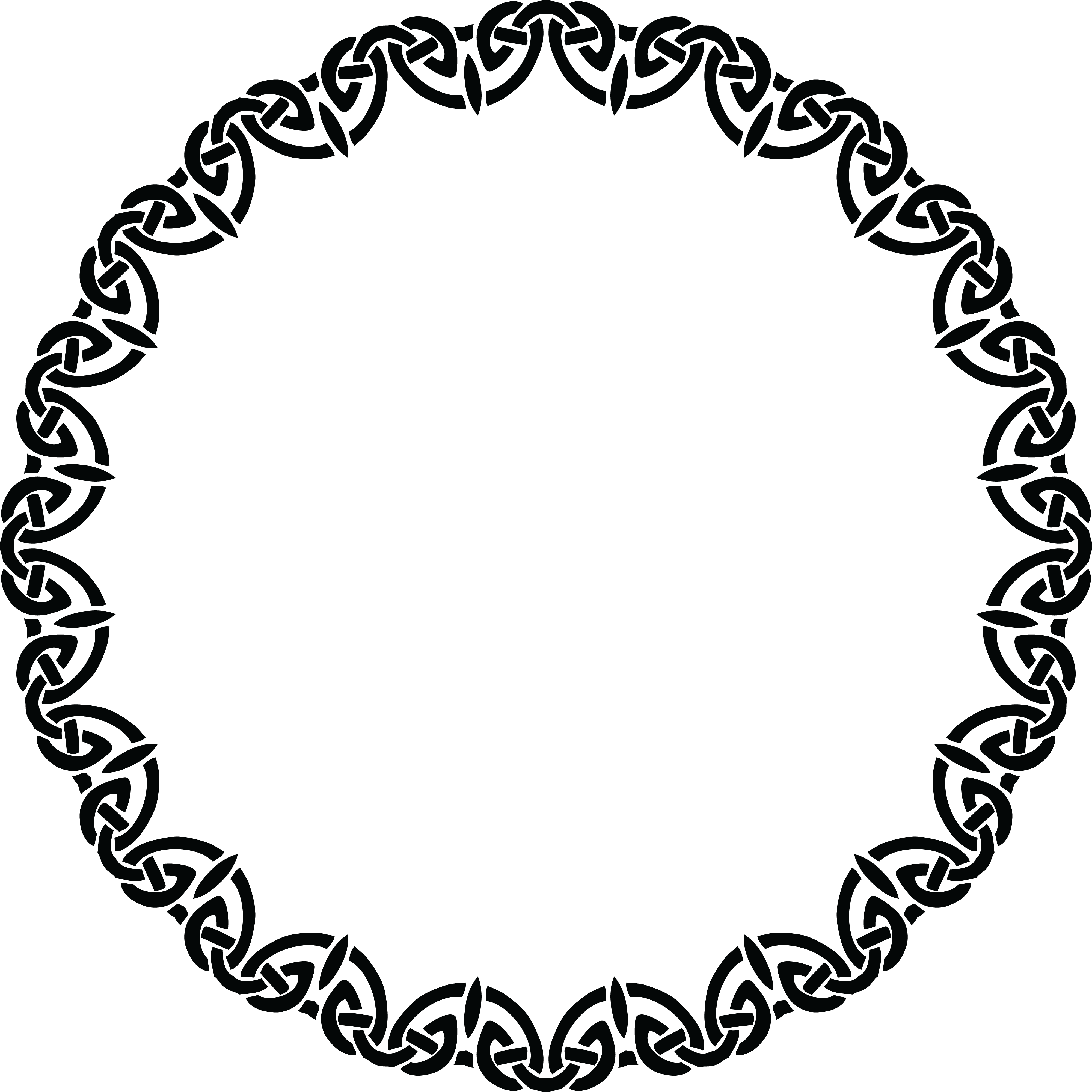 Vectorial drawing circle. Collection of free designed
