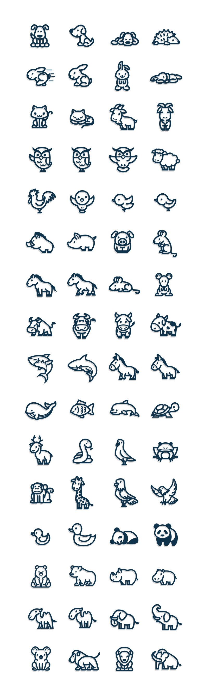 Vectorial drawing simple. Animals icon pinterest doodles
