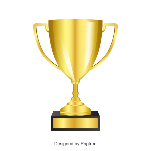 Win vector award. Trophy cup icon goblet