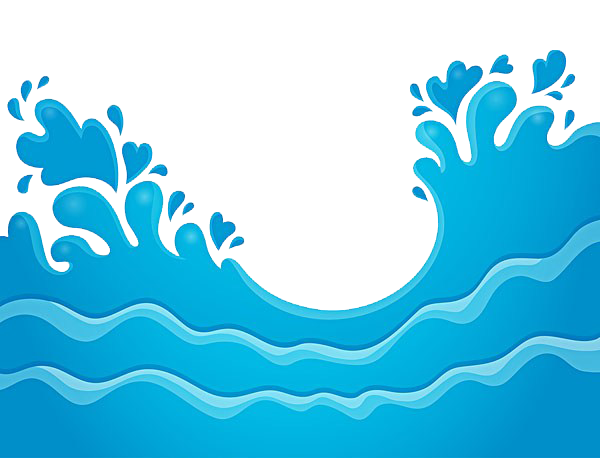 Vectorial drawing wave. Water clip art sea