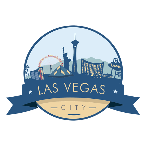 Vegas skyline png. Las badge transparent svg