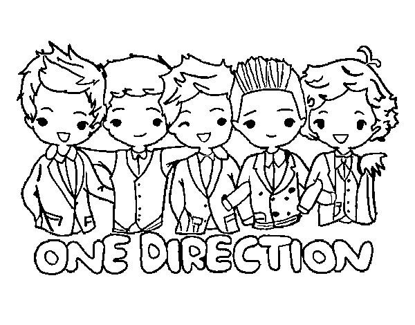 Vegas vector coloring page. Pages of one direction