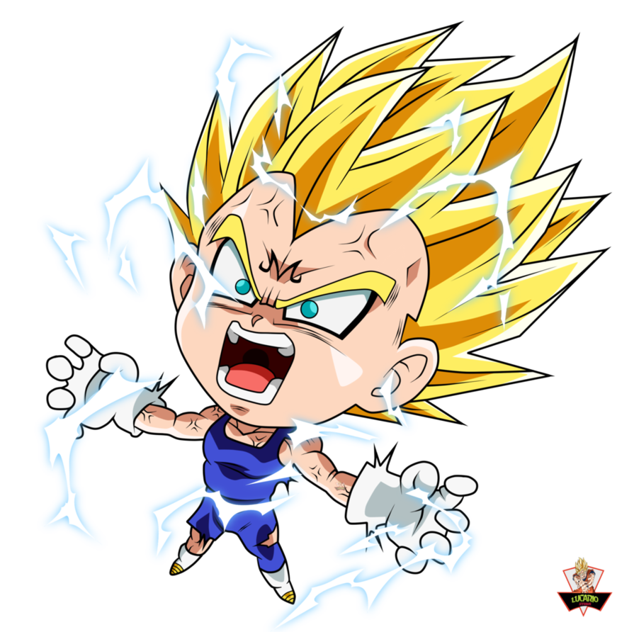 chibis drawing vegeta