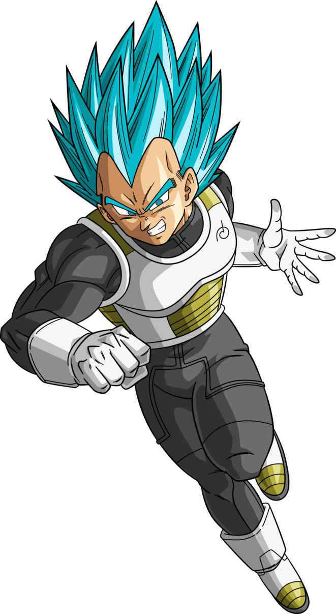 Vegeta dragon ball super png. Saiyan blue by rayzorblade