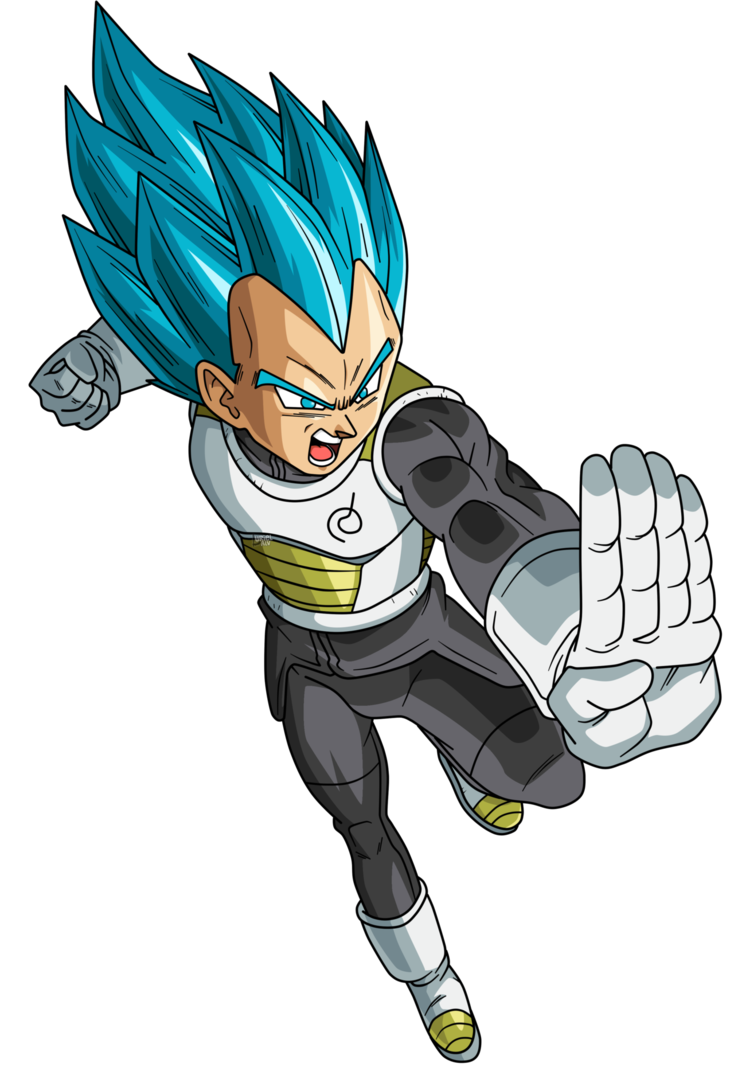 Vegeta dragon ball super png. Blue by urielalv on