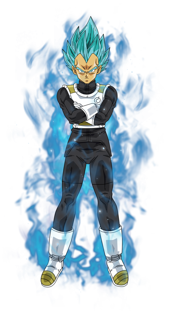 Vegeta dragon ball super png. Saiyan blue by bardocksonic