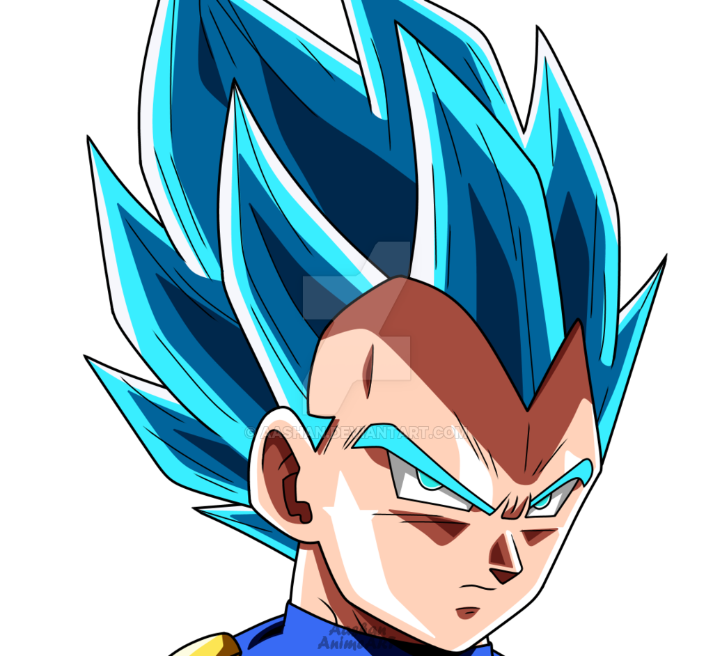 Drawing vegeta face. Super saiyan blue by