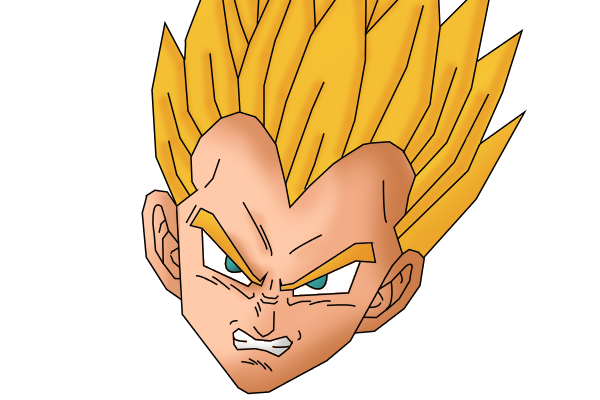 Vegeta face png. Ssj gt finished by