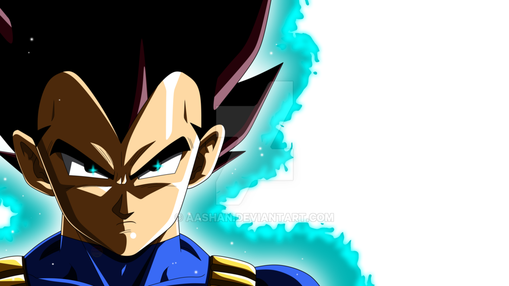 Vegeta face png. Colored with aura and