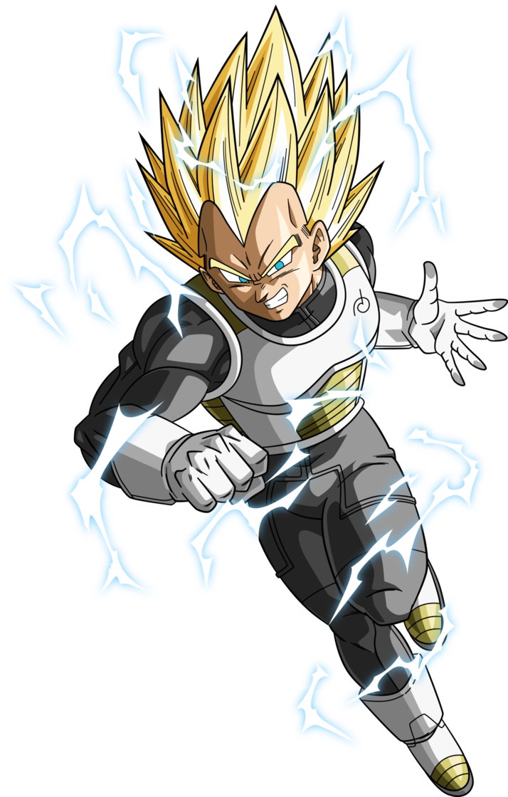 Vegeta ssj2 png. Ssj dragonball super lightning