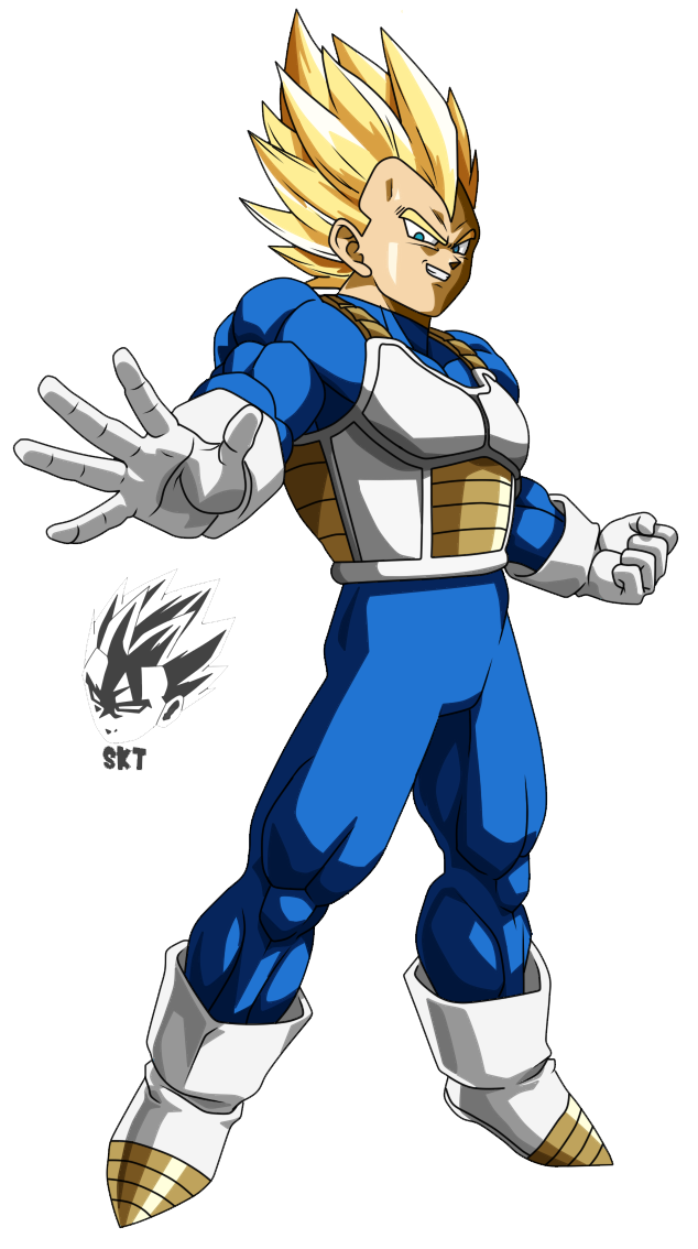 By skriller kiro ft. Vegeta super saiyan png vector black and white library