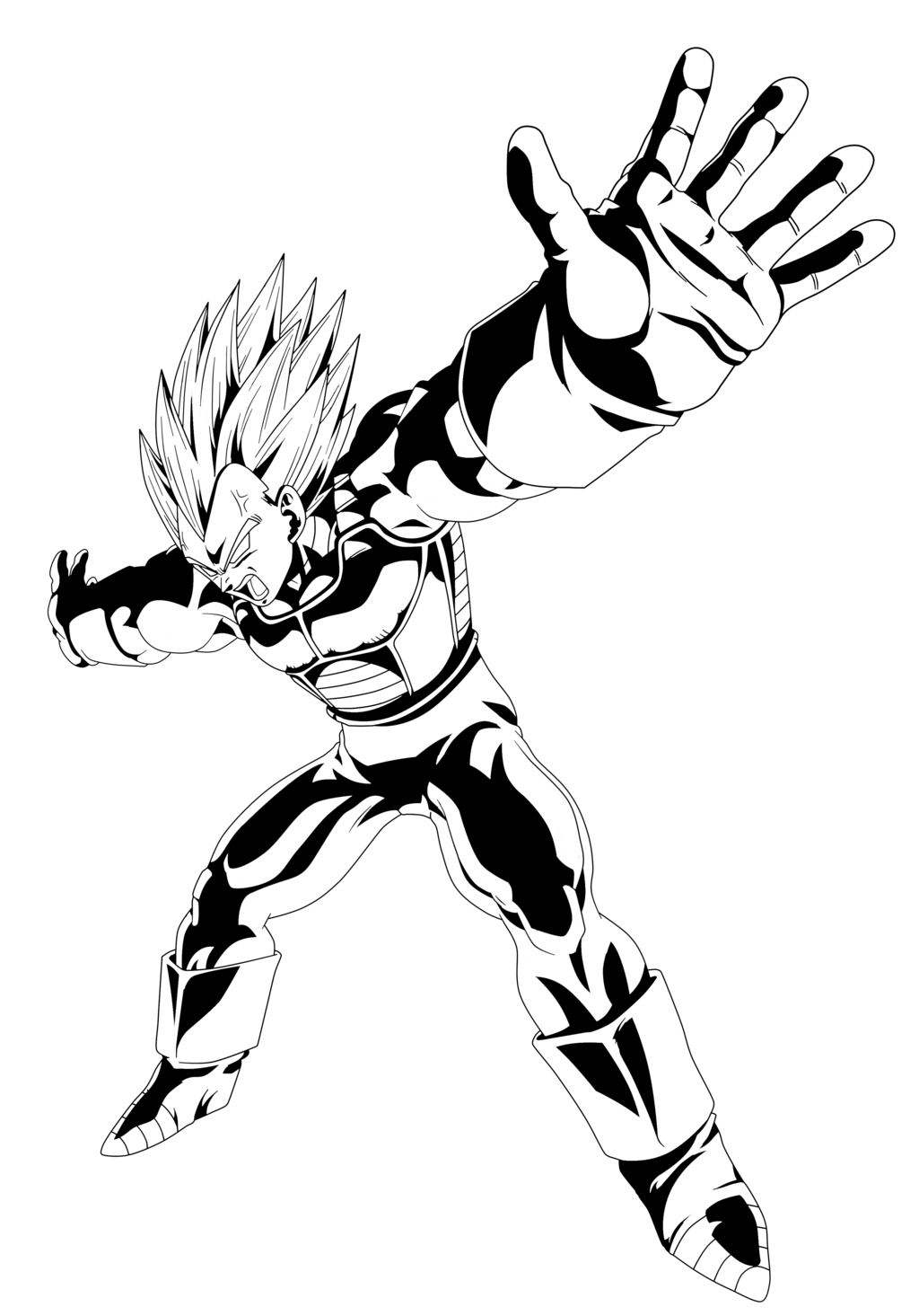 Ssj by pedronex on. Vegeta vector art svg library download