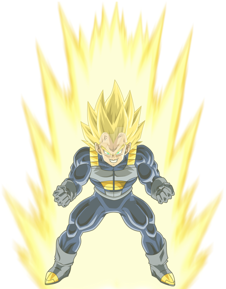 Super cell saga mll. Vegeta vector art jpg free