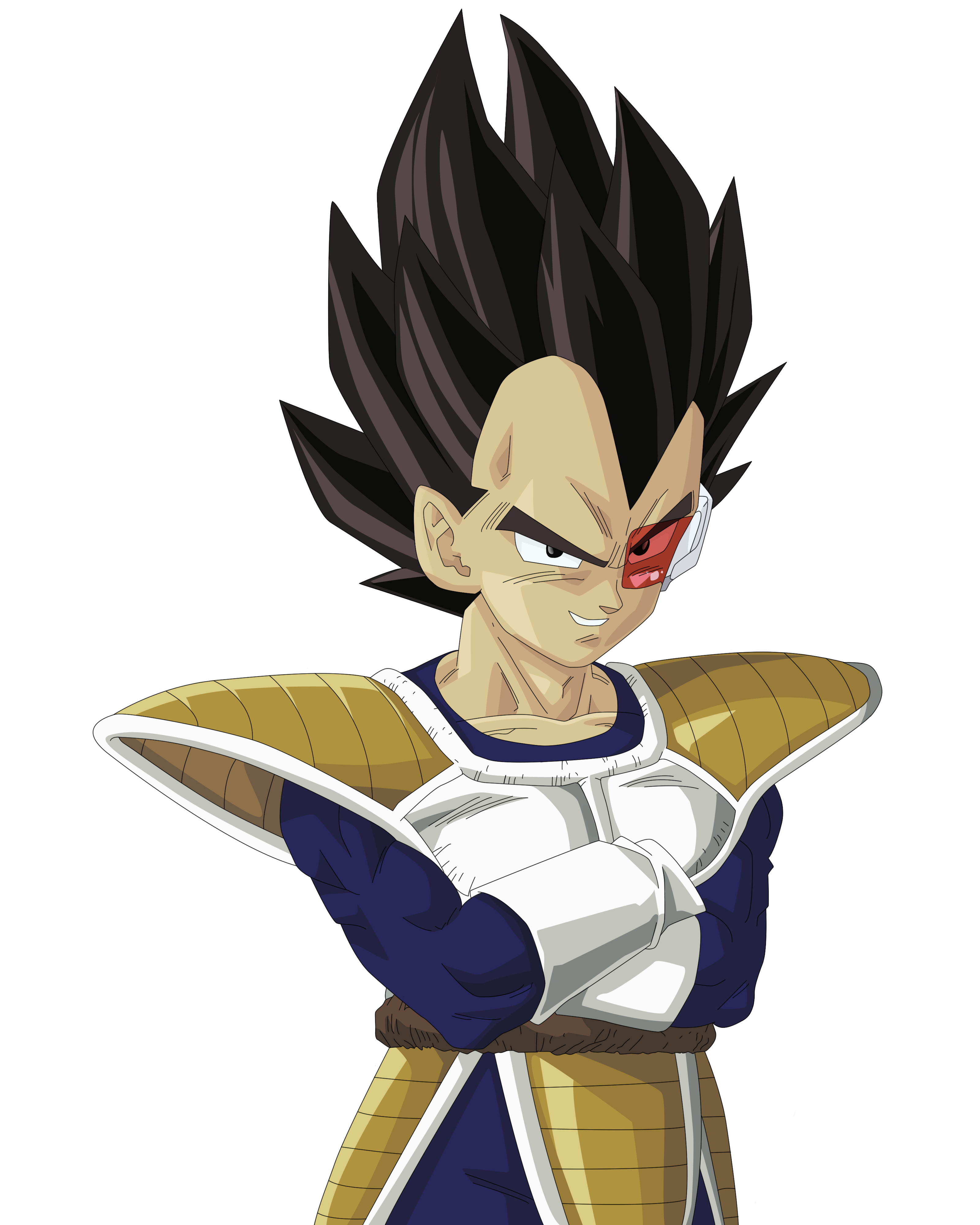 Vegeta vector transparent. Render extraction png by