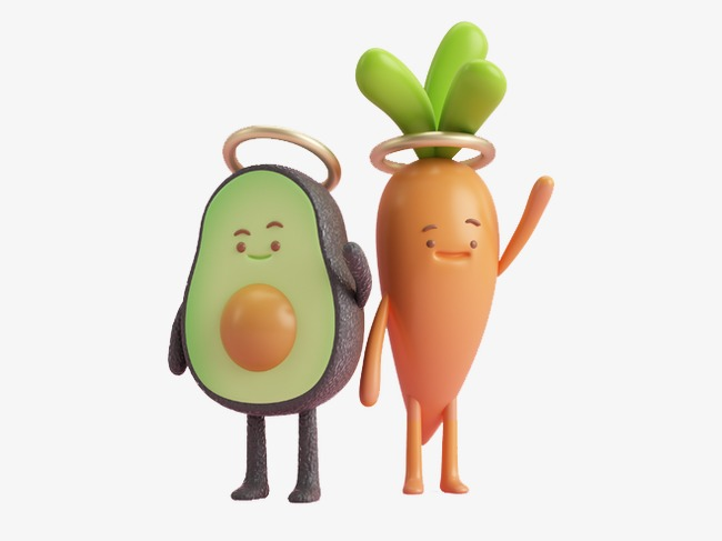 Vegetable clipart avocado. Cartoon fruits and vegetables