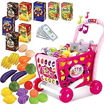 Vegetable clipart trolley. Kids shopping role play