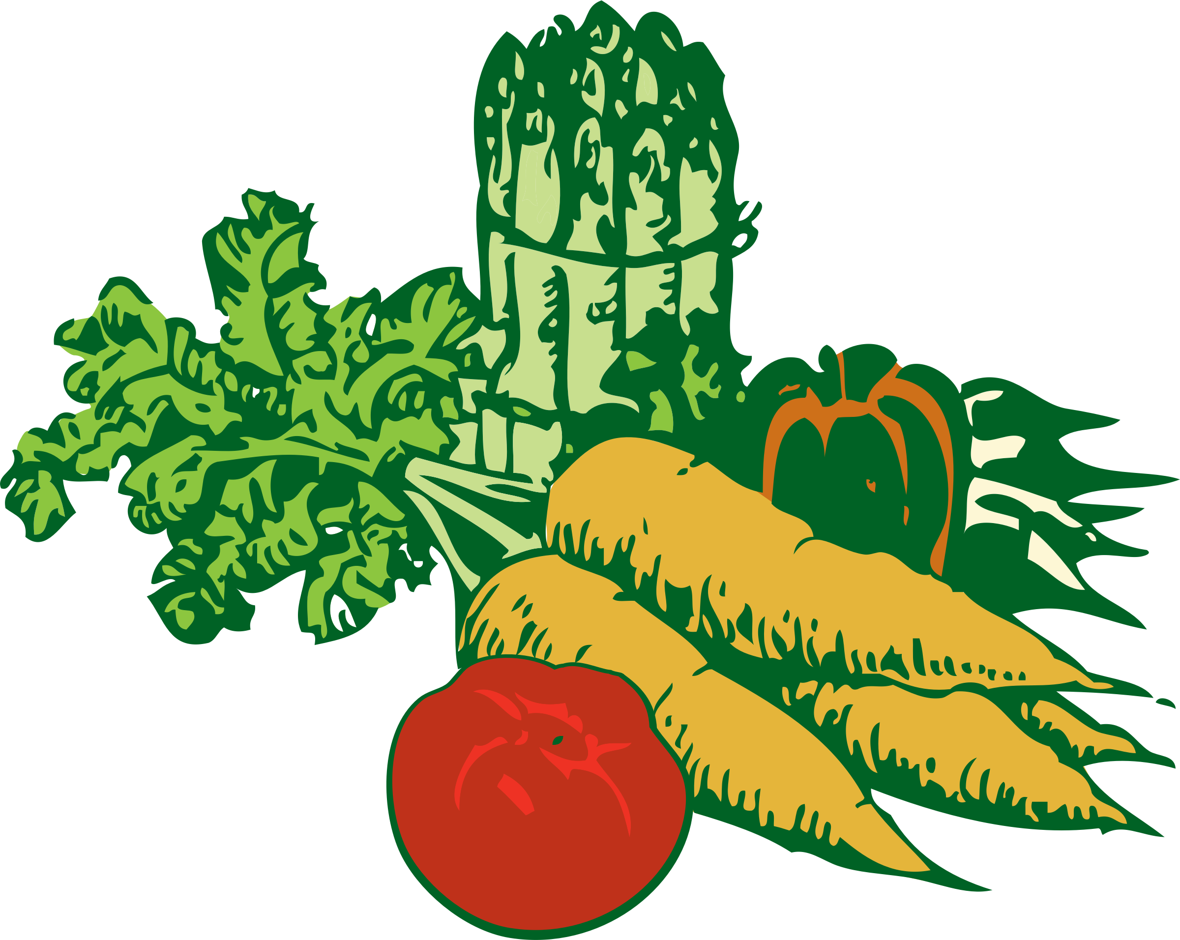 drawing vegetables