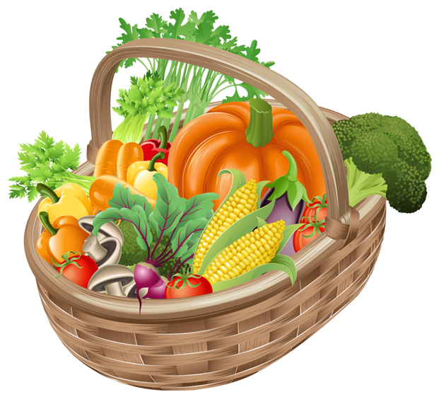 Vegetables clipart png. Basket with picture gallery