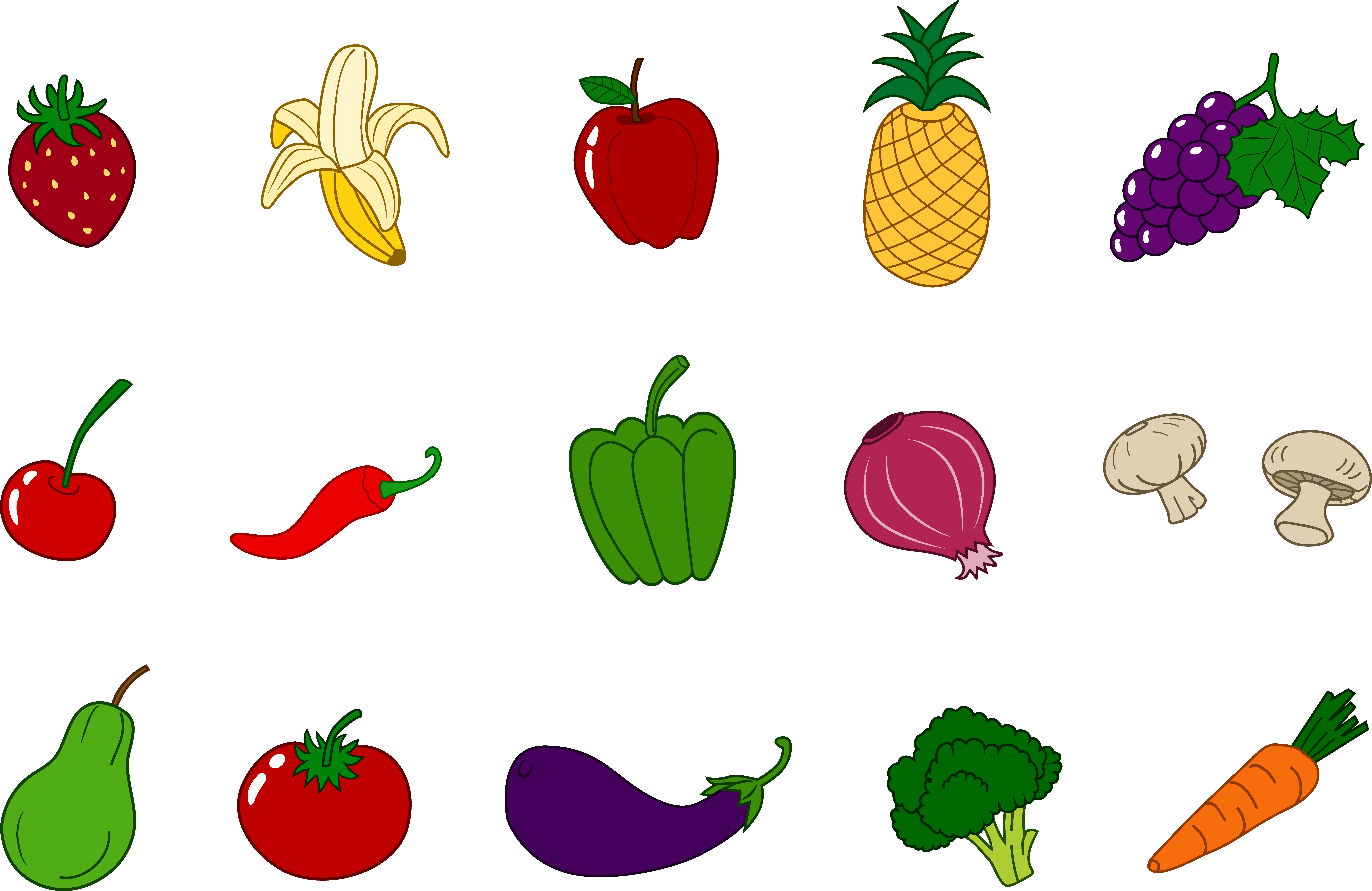 Veggies clipart. Clip art fruits and