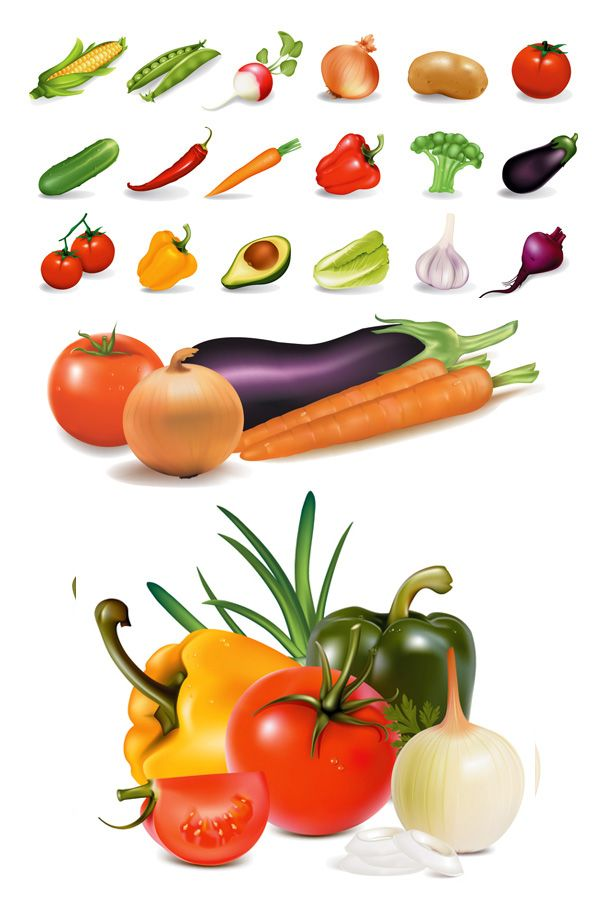 Veggies clipart common vegetable. Fresh vegetables clip art