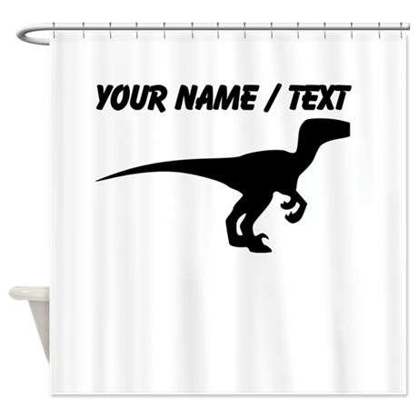 Velociraptor silhouette png. Custom shower curtain by