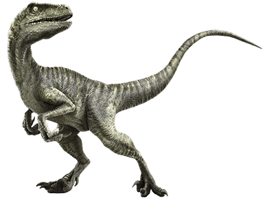 Velociraptor transparent retro