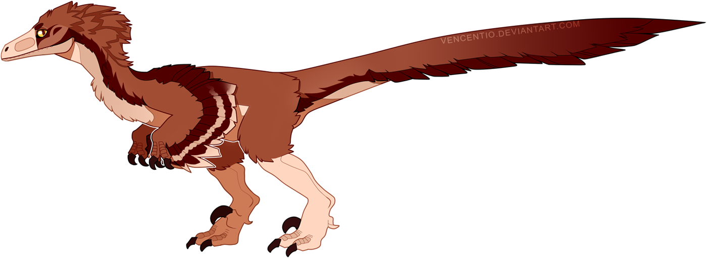 Velociraptor transparent cute. By vencentio on deviantart