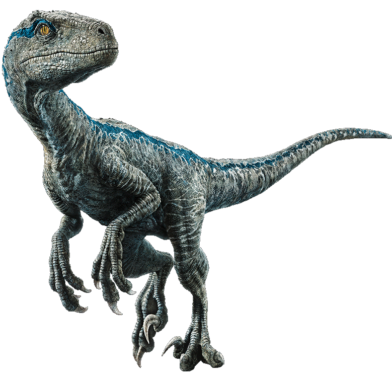 Velociraptor transparent retro. Fallen kingdom blue the