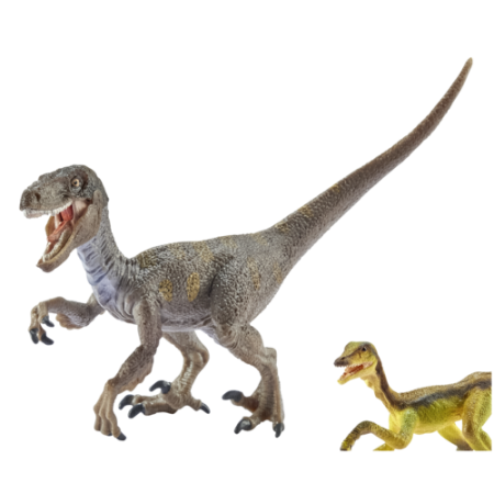 Velociraptor transparent toy. Action figures schleich dinosaurs