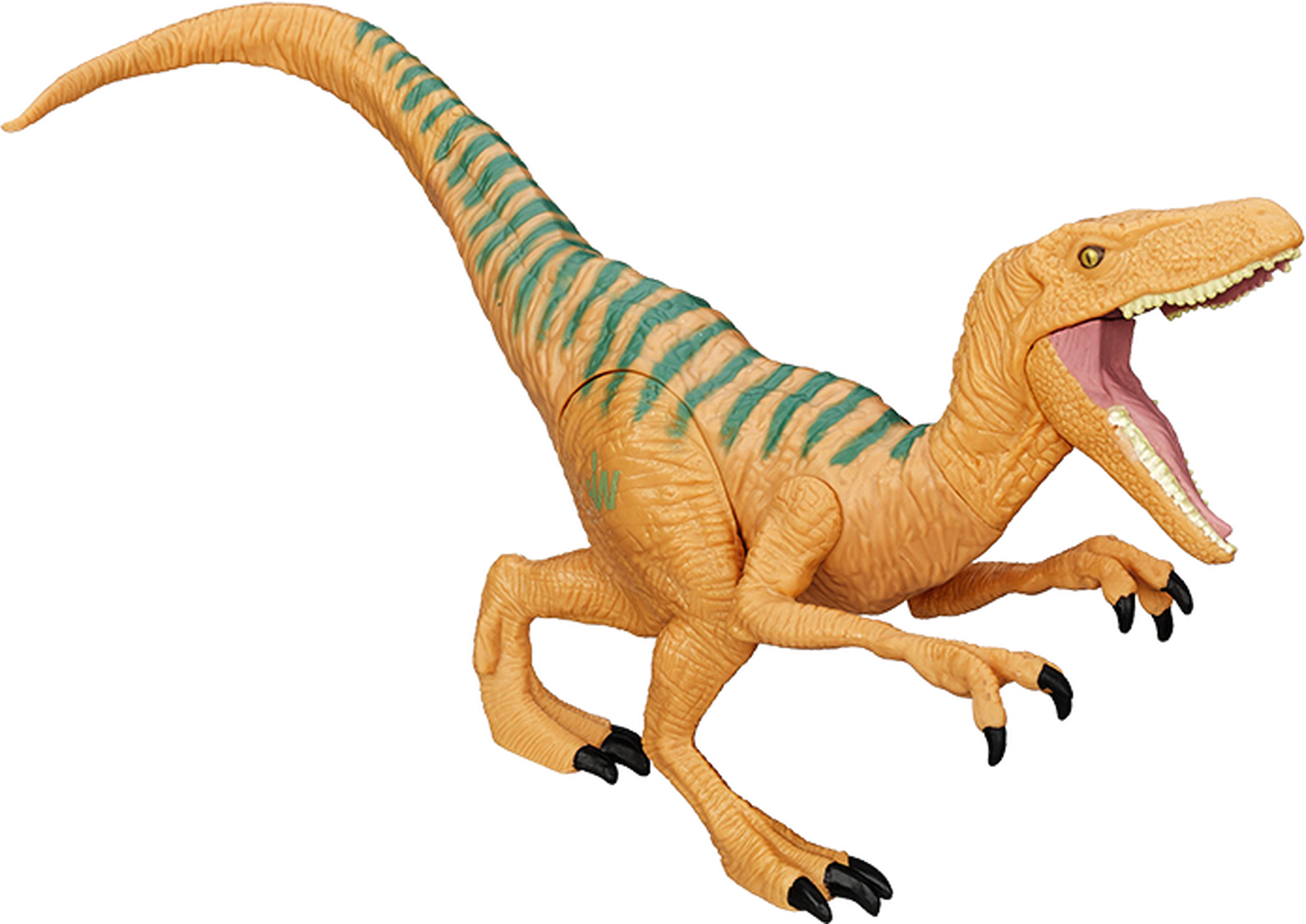 Velociraptor transparent toy. Jurassic world figure echo