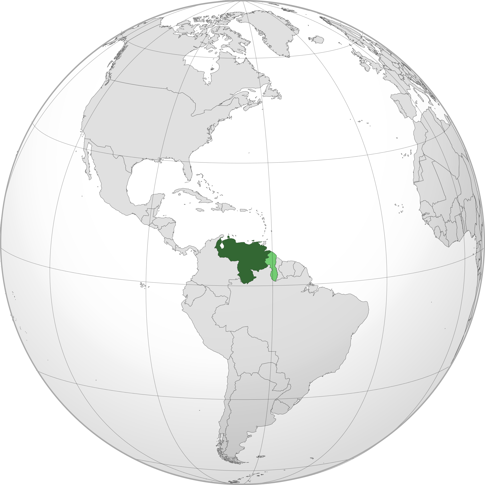 Map of venezuela png. Location the in world