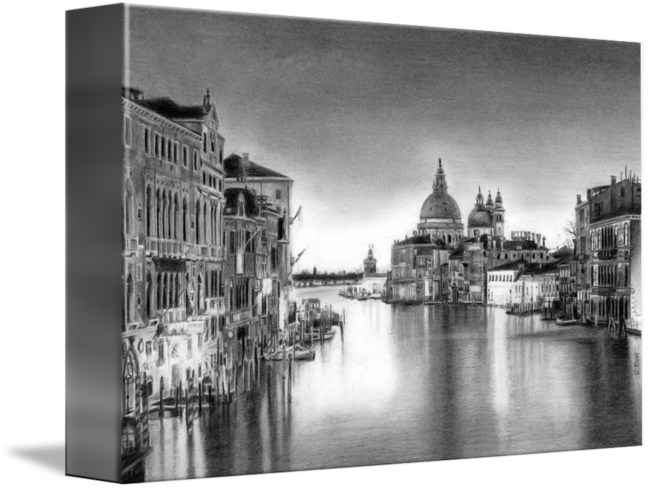 Venice drawing. Pencil by david rives