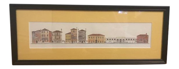 Venice drawing pencil. Original of framed matted
