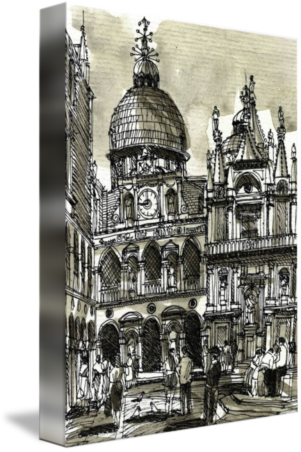 Venice drawing building. By william block