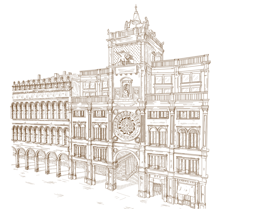 Venice drawing palace. The brand meccaniche veneziane