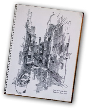 Venice drawing italy. Sketchbooks i usually carry