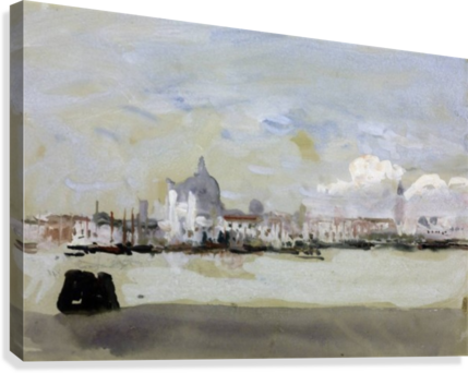 Venice drawing skyline. A grey day in