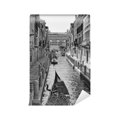 Venice drawing street. View in black and