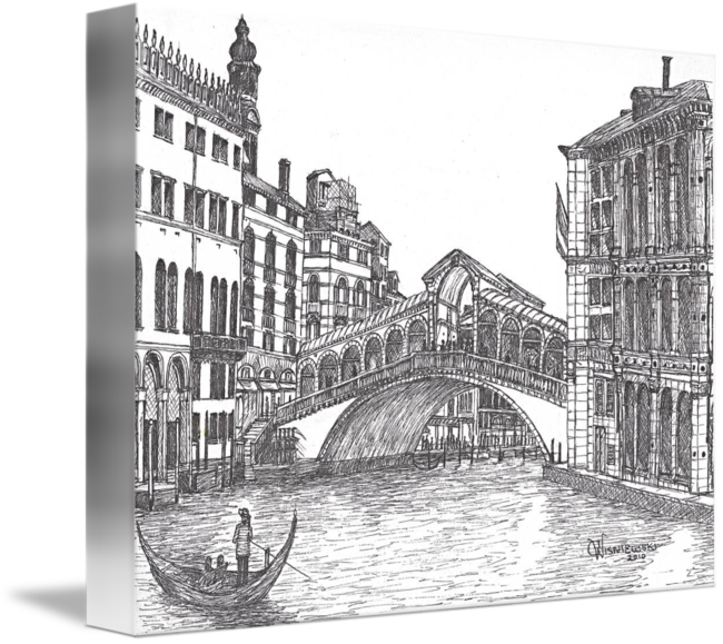venice drawing gondola