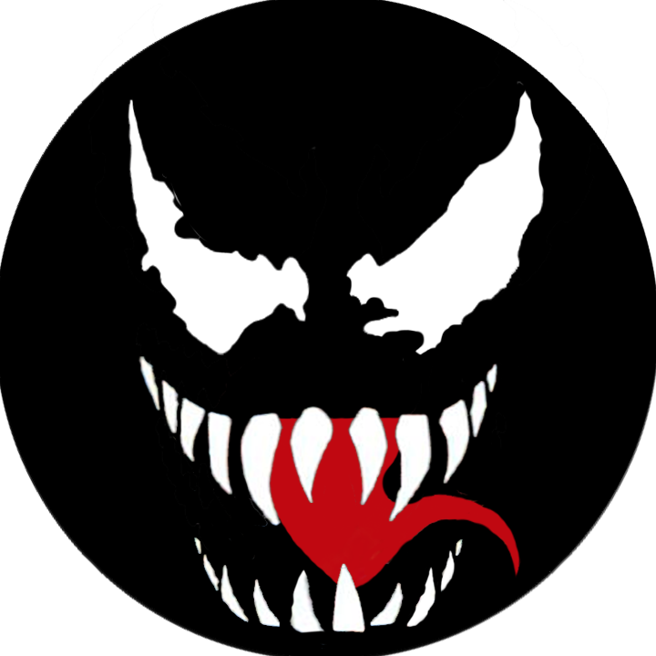 Venom face png. W web lovers even