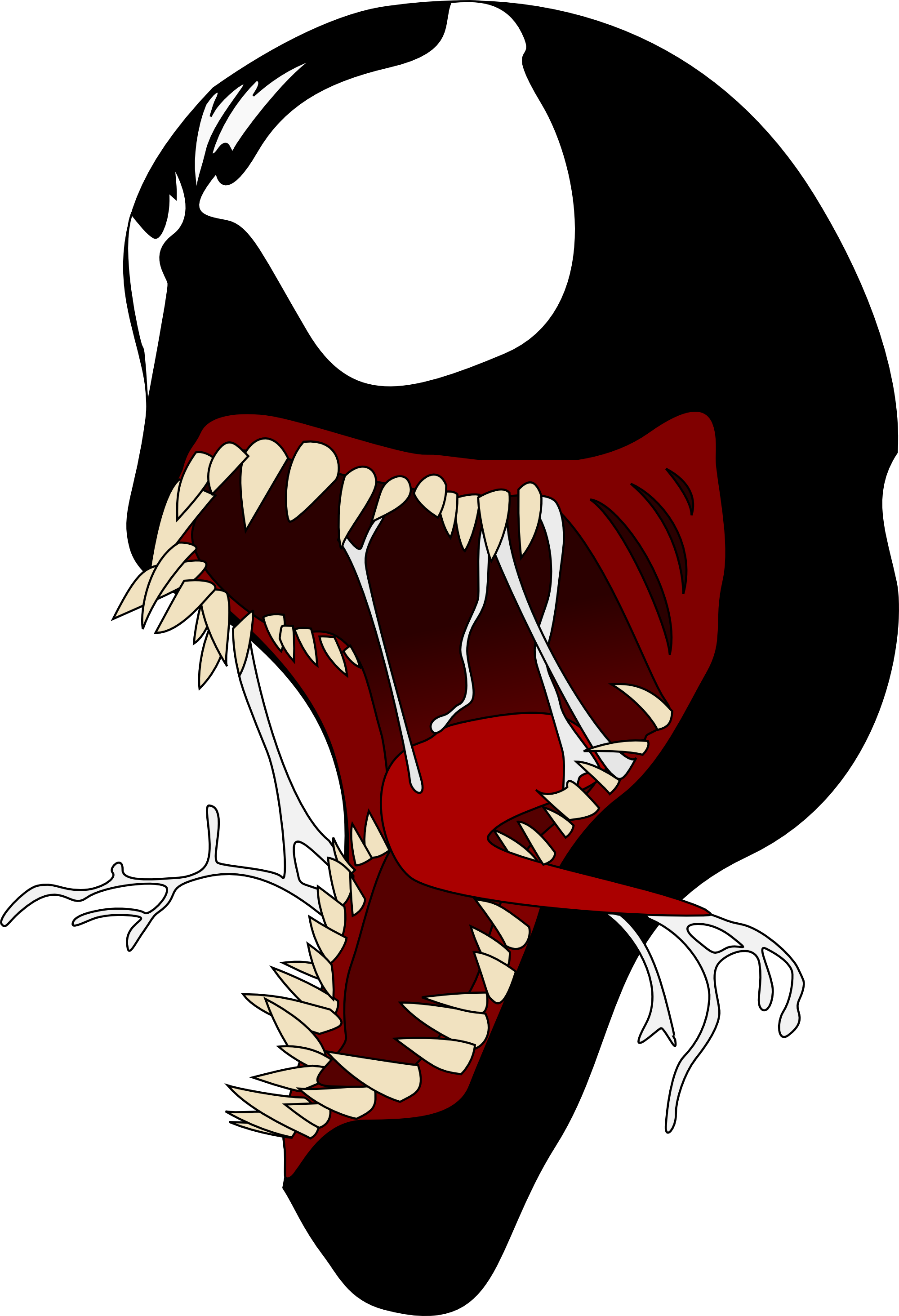 Venom face png. Wallpaperheaven facepng by blackcraft