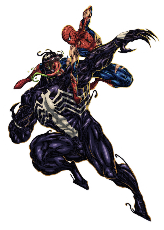 Spiderman venom png. Spidey vs colored by