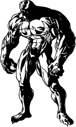 Venom vector marvel. Silhouette of