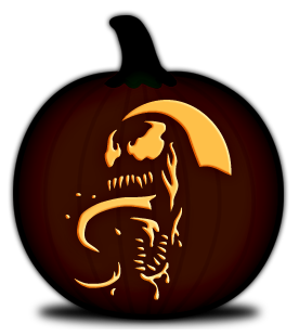 Venom vector pumpkin carving. Dreager s blog is