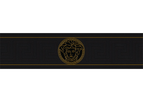 Versace border png. Greek key black and
