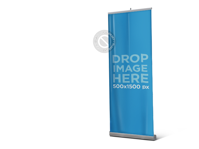 Vertical banner png. Placeit standing mockup